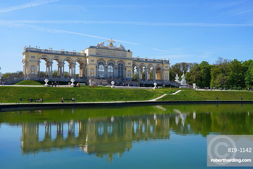 The Gloriette in the Schonbrunn Palace Gardens, UNESCO World Heritage Site, Vienna, Austria, Europe