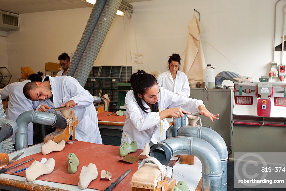 Wood model laboratory at Cercal footwear school, San Mauro Pascoli, Emilia-Romagna, Italy, Europe