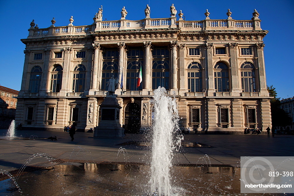 Palazzo Madama was the first Senate of the Italian Kingdom, now housing Turin's Museo Civico d'Arte Antica, Turin, Piedmont, Italy, Europe