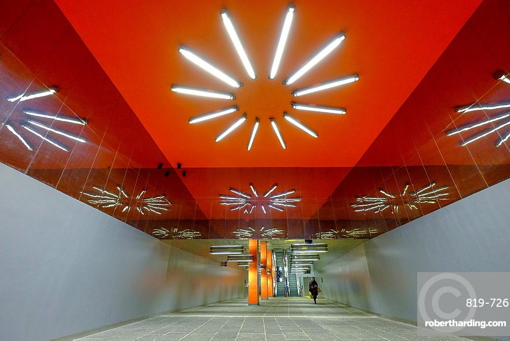 Garibaldi Art Station of Naples Metro, Naples,Campania, Italy, Europe