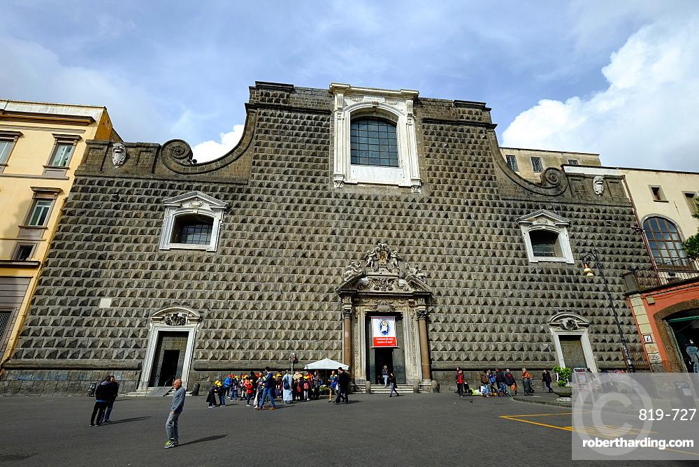Church of Gesu Nuovo, Naples, Campania, Italy, Europe