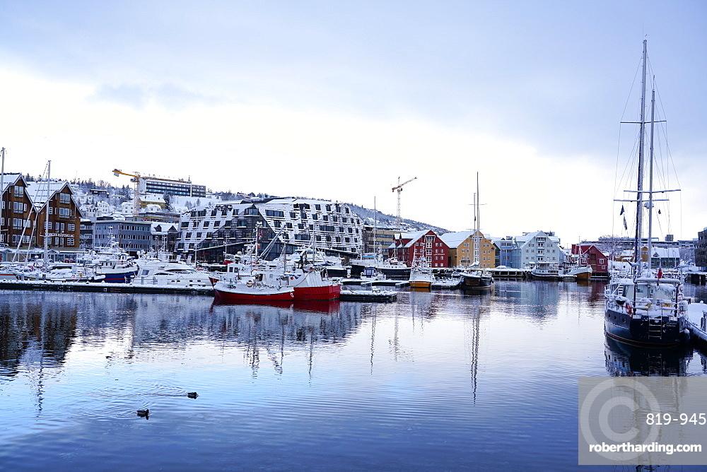 Tromso Harbour, Tromso, Troms County, Norway, Scandinavia, Europe