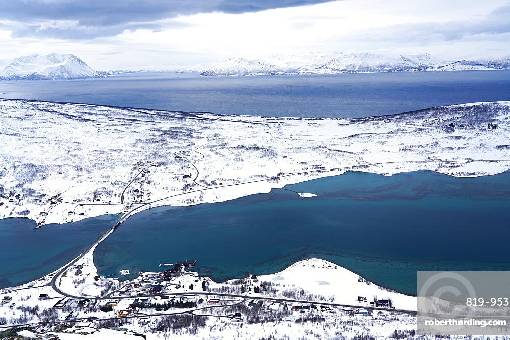 Lyngen Alps, Nordlenangen, Lyngen peninsula, Troms County, Norway, Scandinavia, Europe
