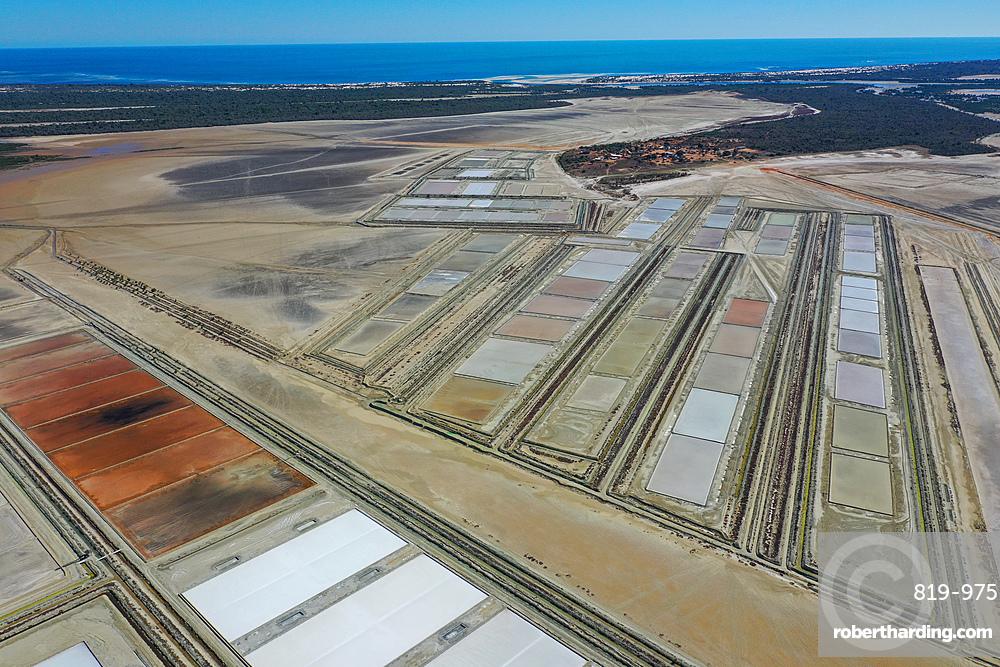 Salt flats at Belo sur Mer, Morondava district, Madagascar, Africa