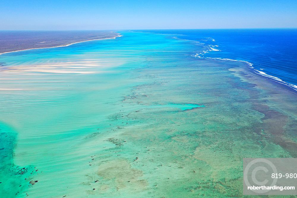 Coral reef near Ambatomilo, South Western coast of Madagascar, Indian Ocean, Africa