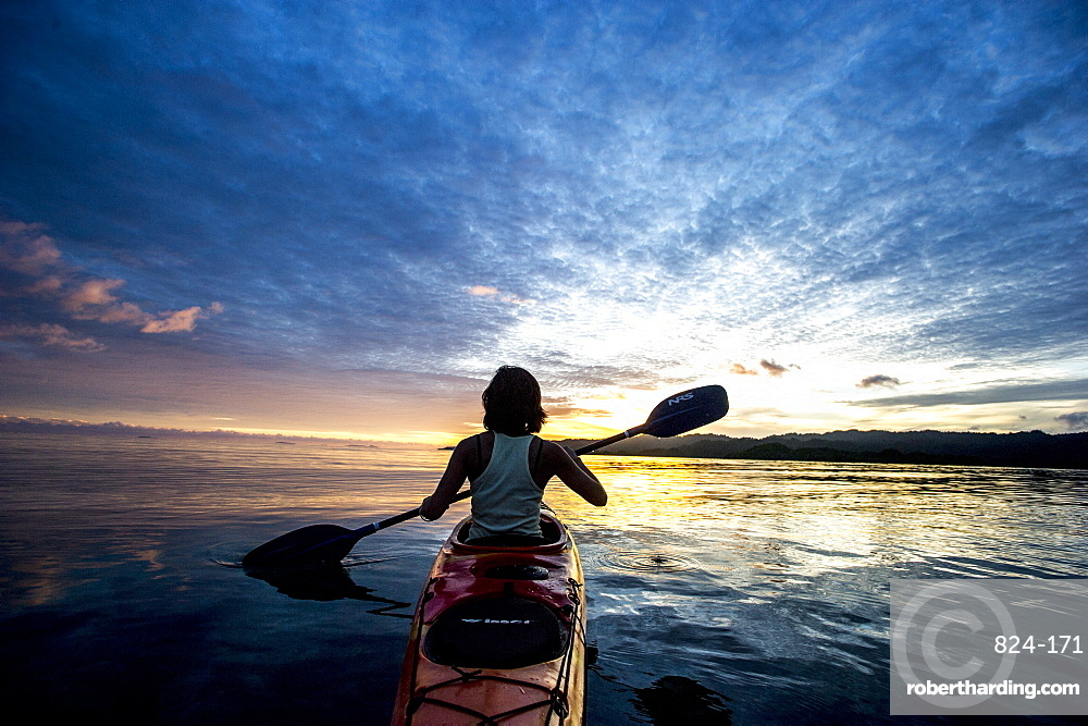 Sea Kayaking in Raja Ampat, West Papua, Indonesia, New Guinea, Southeast Asia, Asia