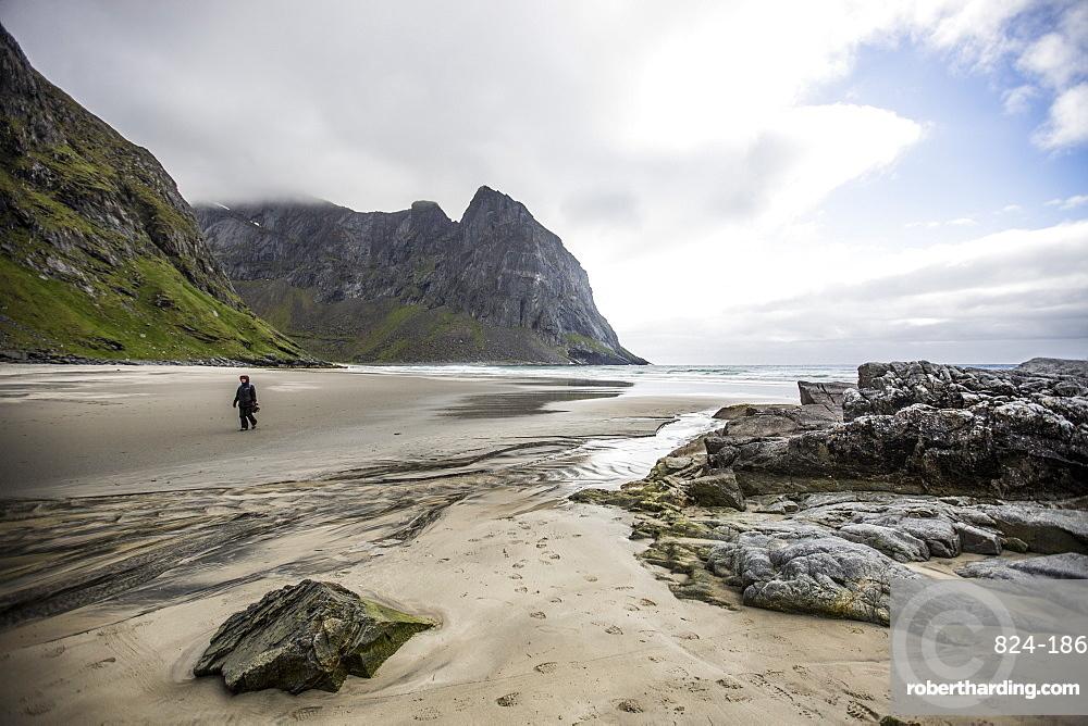 Kvalvika beach, Lofoten Islands, Norway, Scandinavia, Europe