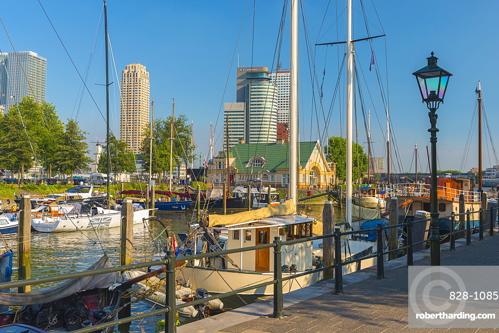 Harbour, Veerhaven, Rotterdam, South Holland, The Netherlands, Europe