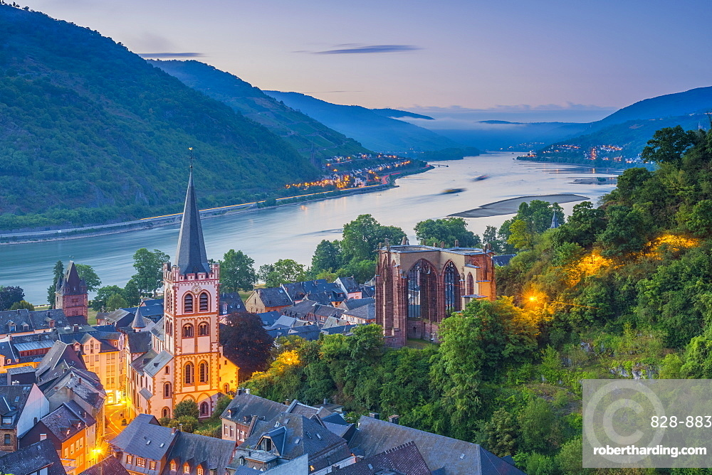 Bacharach on the River Rhine, Rhineland Palatinate, Germany, Europe
