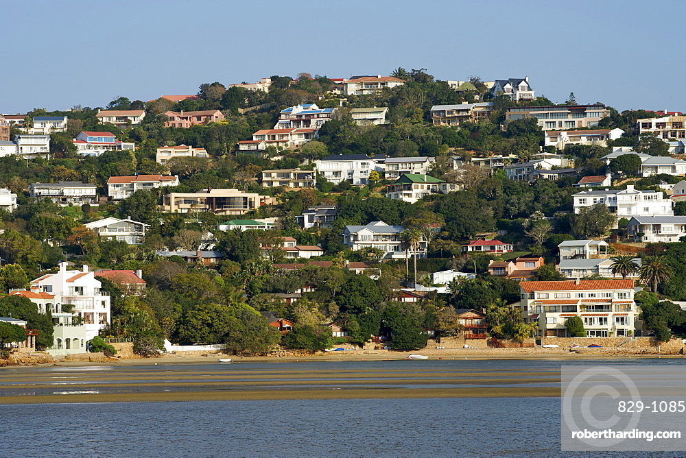 Houses On The Bluff Of Stock Photo