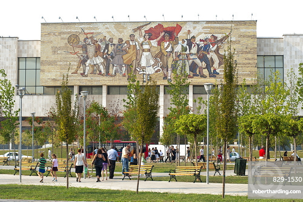The National Historical Museum in Tirana, capital of Albania, Europe
