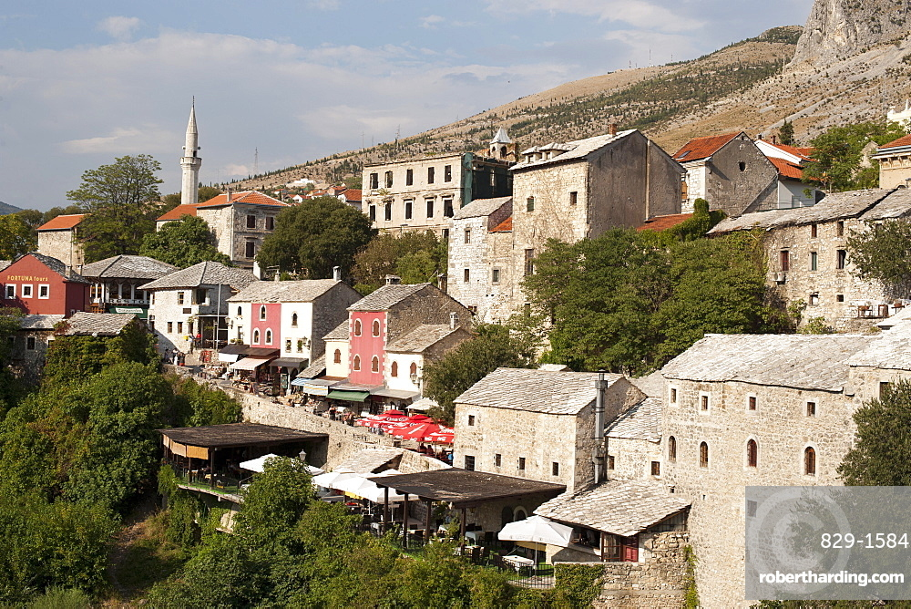 Buildings of the old town, UNESCO World Heritage Site, Mostar, Bosnia and Herzegovina, Europe