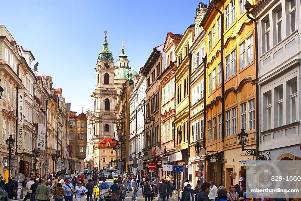 Mostecka street in Prague, Czech Republic, Europe