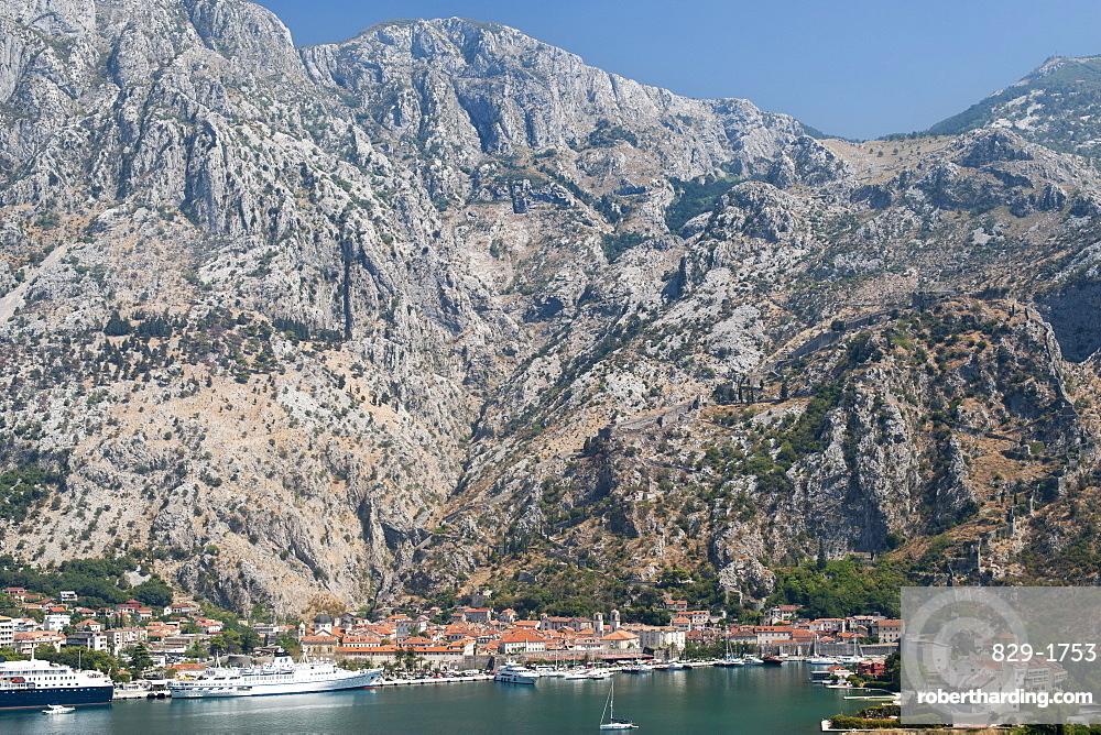Kotor town and Kotor Bay, UNESCO World Heritage Site, Montenegro, Europe