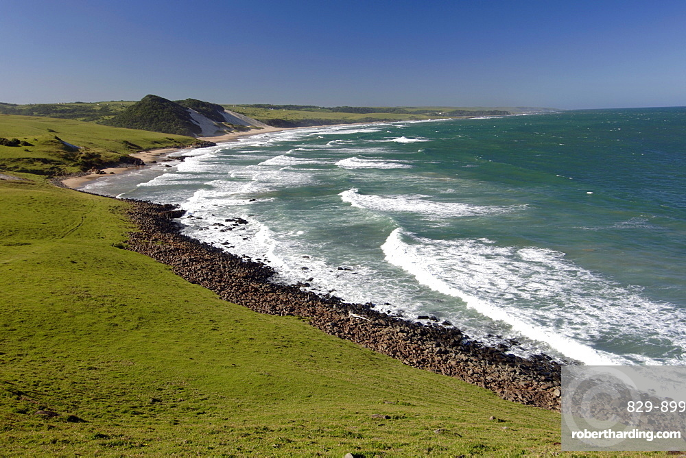 View of the coastline around Mazeppa Bay in the Eastern Cape Province of South Africa.