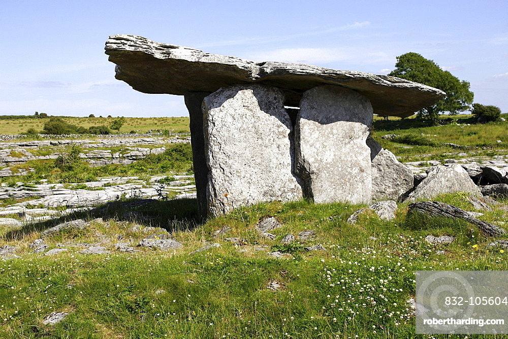 The portal tomb, The Burren, Republic of Ireland, Europe