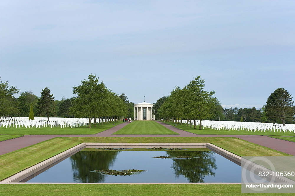American military cemetery at Omaha Beach near Colleville sur Mer, Normandy, France, Europe