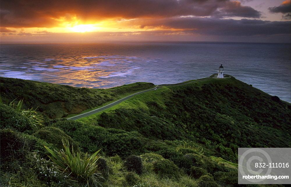 Lighthouse at Cape Reinga, Aupouri-Peninsula, Northland, North Island, New Zealand