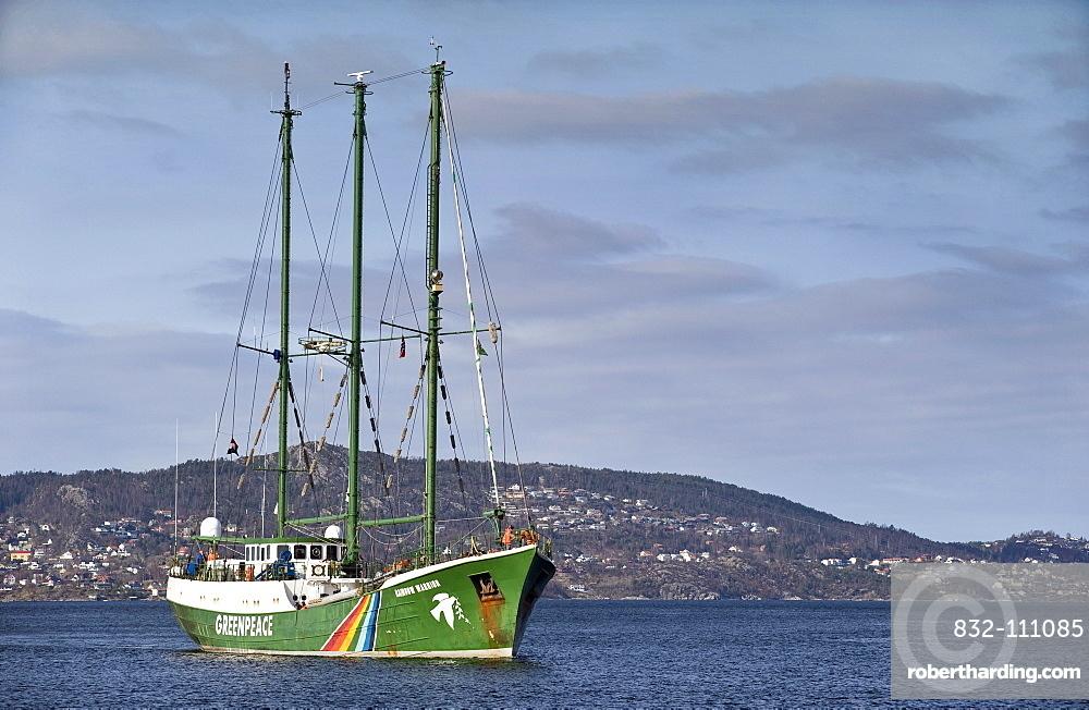 The Greenpeace ship Rainbow Warrior II, Bergen, Norway, Europe