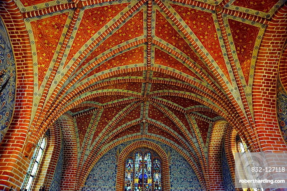 Vaults of the Heiliggrabkapelle, Holy Sepulchre Chapel, above the chancel, Kloster Stift zum Heiligengrabe, Heiligengrabe Abbey, Cistercian monastery, Heiligengrabe, Prignitz, Brandenburg, Germany, Europe