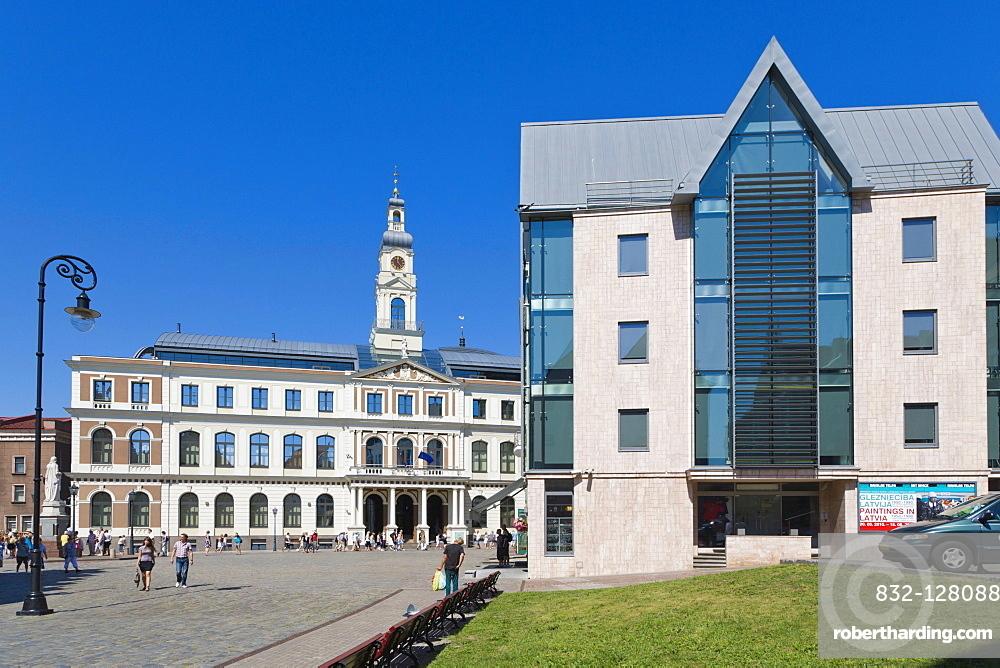 Riga City Council, Rigas Dome, Town Hall Square, Ratslaukums, old town, Vecriga, Riga, Latvia, Northern Europe