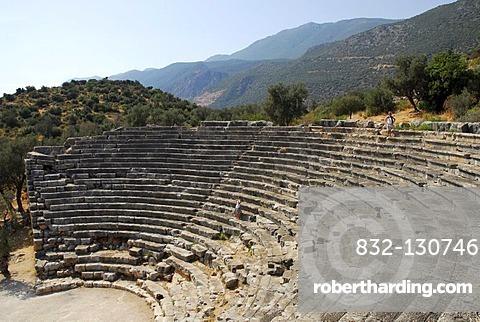 Amphitheater of Kas, ancient theater, Lycian coast, Antalya Province, Mediterranean, Turkey, Eurasia