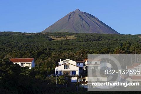 Pico Alto volcano, view from Sao Roque, Pico Island, Azores, Portugal