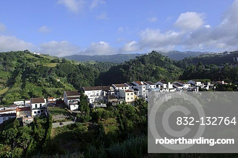 View of Povoacao on the island of Sao Miguel, Azores, Portugal