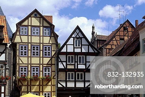 Half-timbered house in Quedlinburg, Unesco World Heritage Site, Saxony-Anhalt, Germany, Europe