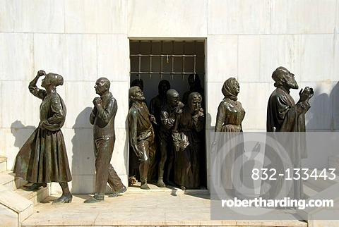 Statues of people going from captivity to freedom, Liberty Monument, Podokataro Bastion, Nicosia, Lefkosia, Southern Cyprus, Republic of Cyprus, Mediterranean Sea, Europe