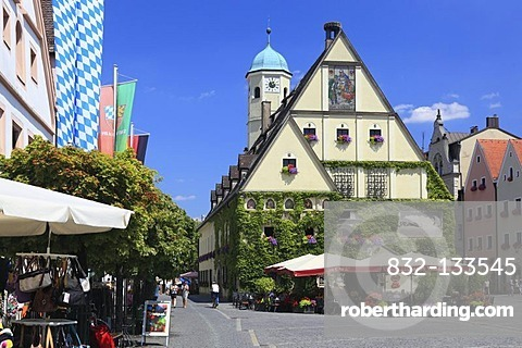 Old Town Hall in the historic town centre of Weiden, Upper Palatinate, Bavaria, Germany, Europe