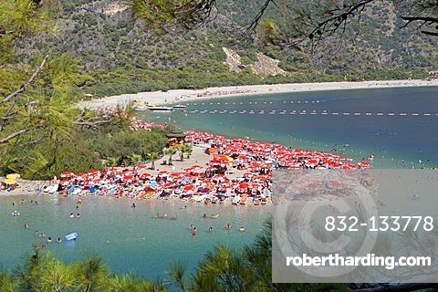 Oeluedeniz Bay near Fethiye, Turkish Aegean Sea, Turkish coast, Turkey