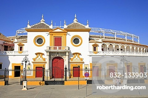 Bullfighting arena Maestranza, Sevilla, Andalucia, Andalusia, Southern Spain, Europe