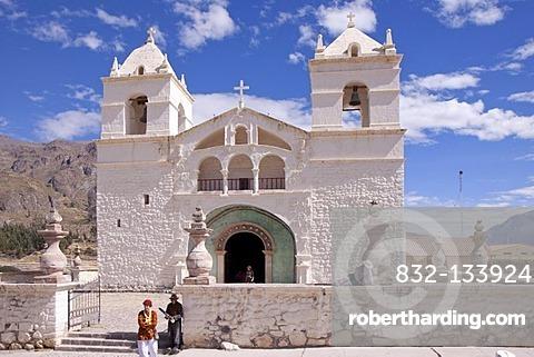 Church at Maca, near Colca Canyon, Peru, South America