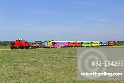 Island train, Langeoog, East Frisian Island, East Frisia, Lower Saxony, Germany, Europe