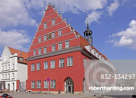 Town hall, Greifswald, Baltic coast, Mecklenburg-Western Pomerania, Germany, Europe