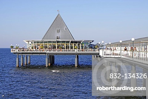Pier of Heringsdorf, Usedom island, Baltic Sea, Mecklenburg-Western Pomerania, Germany, Europe