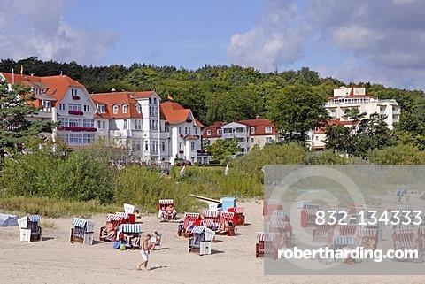 Beach of Bansin, Usedom island, Baltic Sea, Mecklenburg-Western Pomerania, Germany, Europe