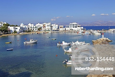 Harbour of Pisso Livadi, Paros island, Cyclades, Aegean Sea, Greece, Europe
