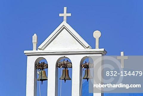 Church near the mountain village Koronos, Naxos island, Cyclades, Aegean Sea, Greece, Europe