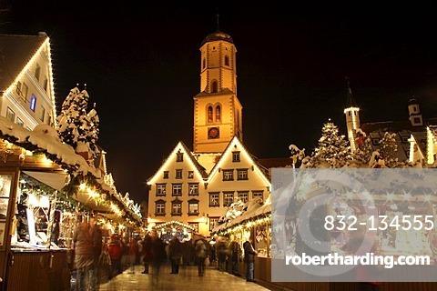 Christmas market in Biberach an der Riss, Biberach district, Upper Swabia, Baden-Wuerttemberg, Germany, Europe
