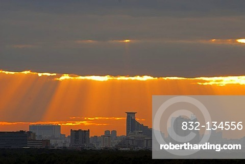 Sunset above Moscow, Russia