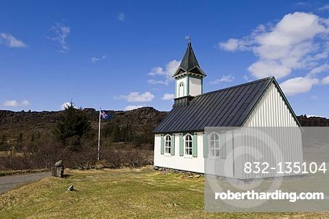 Church, Thingvellir National Park, Iceland, Europe