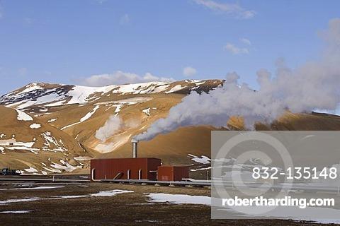 Krafla geothermal power station near Lake Myvatn, Reykjahlid, Iceland, Europe