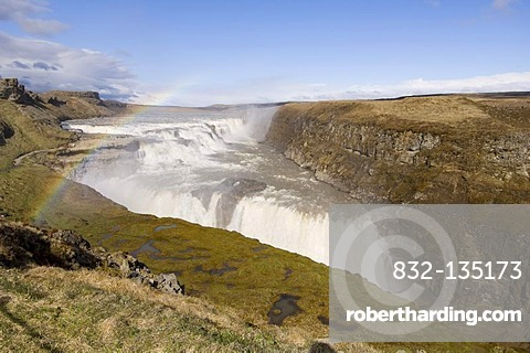 Gullfoss waterfalls, Iceland, Europe