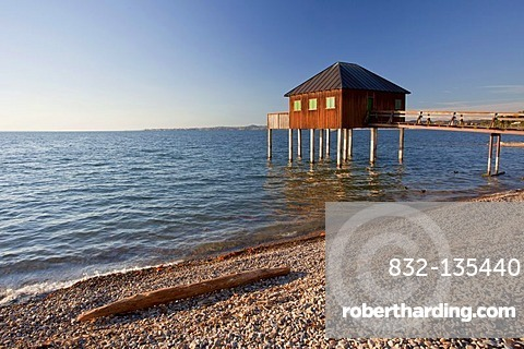 Bath house in Bregenz on Lake Constance, Austria, Europe
