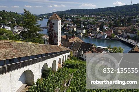 View from Munot, city of Schaffhausen, Switzerland, Europe