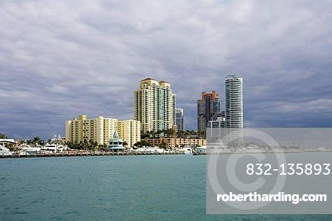 Block of luxury flats, Miami Beach, Florida, United States of America, USA