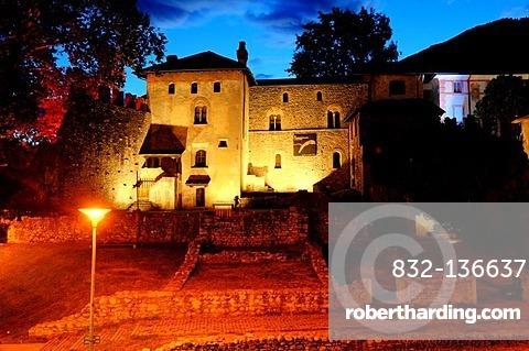 Castello Visconteo castle, Locarno, Ticino, Switzerland, Europe