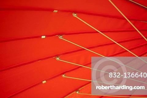 Red parasol, detail